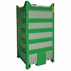 IBC Tank, 45x45x44 In, 250 gal, Green