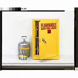 Flammable Safety Cabinet, 4 Gal., White