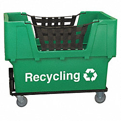 Material Handling Cart, Green, Recycling