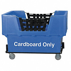 Matl Handling Cart, Cardboard Only, Blue