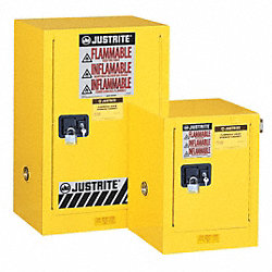 Flammable Safety Cabinet, 12 Gal., Gray