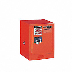 Safety Cabinet, 12 Gal., Self-Closing, Red