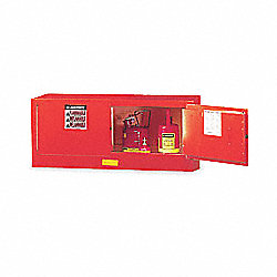 Flammable Safety Cabinet, 12 Gal., Red