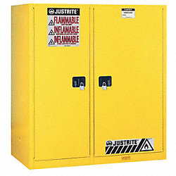 Flammable Safety Cabinet, 115 Gal., Yellow
