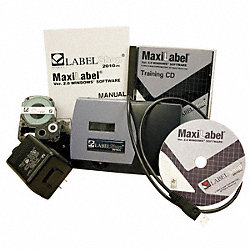 Shrink Tube Tape Cart, Black/White, 1/4 In