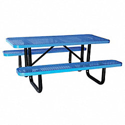 Picnic Table, Rectangular, Blue