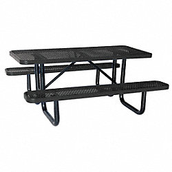 Picnic Table, Rectangular, Black