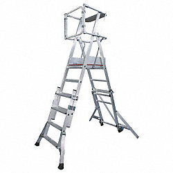 Platform Stepladder, 6-1/2 to 8 ft. H