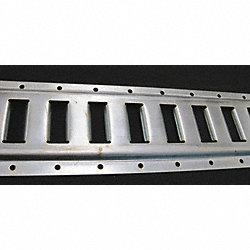 Horizontal E-Track, Zinc Plated Finish