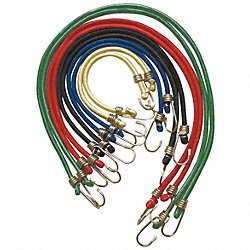 Bungee Cord Assortment, Hook, 36 In.L, PK10