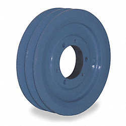 V-Belt Pulley, QD, 6.55 In OD, 2 Groove