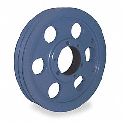 V-Belt Pulley, QD, 9.75 In OD, 2 Groove