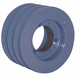 V-Belt Pulley, QD, 5.2 In OD, 3 Groove
