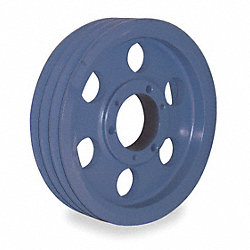 V-Belt Pulley, QD, 13.95 In OD, 3 Groove