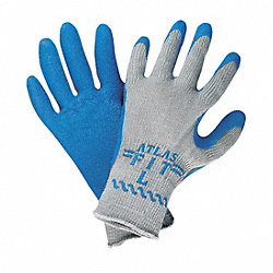 Coated Gloves, S, Blue/Gray, PR