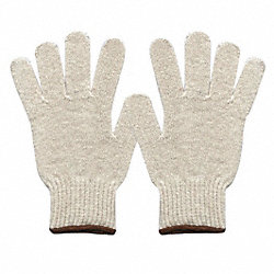 Knit Glove, Poly/Cotton, Men's L, PK144