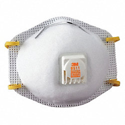Disposable Respirator, N95, Pk 10