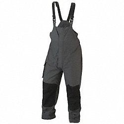 Breathable Rain Bib Overall, Charcoal, XL