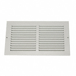 Return Air Grille, 6x12 In, White