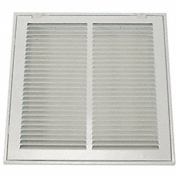 Return Air Filter Grille, 12x12 In, White