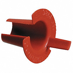Bushing, Anti-Short, 1/2 In, Plastic, PK50