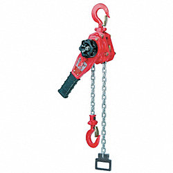 Lever hoist, Ratchet, 3300lb, Open1 1/4In