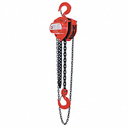 Chain Hoist, Manual, 1T, Lift15Ft