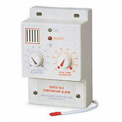 Temperature Alarm, -10 to 80F, 120VAC