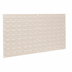 Louvered Panel, H 19 In, L 35 3/4 In, Beige