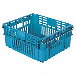 Food Service Vented Tote, W 20 In, Lt Blue