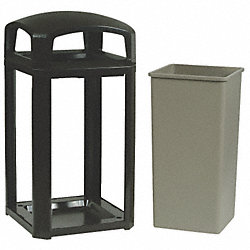 Receptacle Frame, 50G, Black, Dome Top