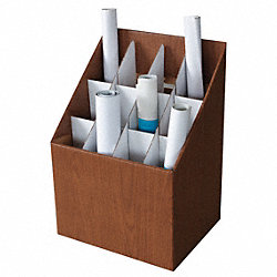 Roll File, 12 Compartments, Fiberboard