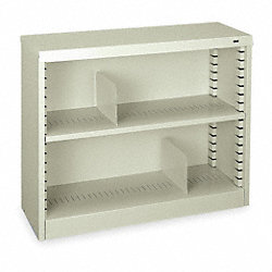 Bookcase, Steel, 30 In H, Black