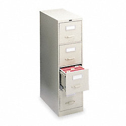 Cabinet, Vertical File, 4 Shelves, 52Hx18W