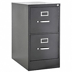 Cabinet, Vertical File, 29Hx15Wx25D, Gray