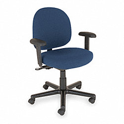 Chair, Intensive-Use, 42H, Lrg Back, Black