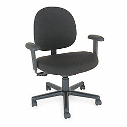Chair, Cleanroom, 42H, Black, Vinyl