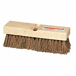 Deck Scrub Brush, 10 x 3 In Blck, 2 In Trm