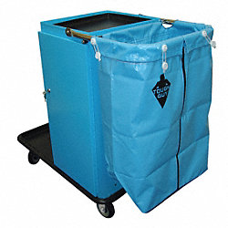 Housekeeping Cart, Blue, Zinc Plated