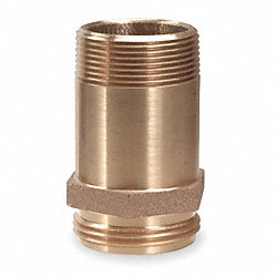 RackNipple, FireHose, Brass, 2-1/2in NPT-NH