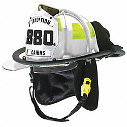 Fire Helmet, White, Traditional