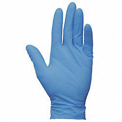 Disposable Gloves, Nitrile, M, Blue, PK200