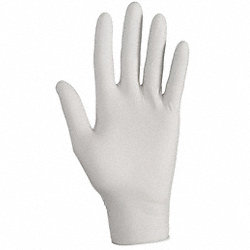 Disposable Gloves, Nitrile, L, Gray, PK150