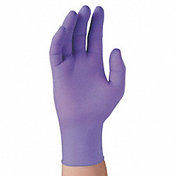 Disposable Gloves, Nitrile, S, Purple, PK100