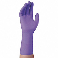 Disposable Gloves, Nitrile, L, Purple, PK50