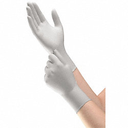 Disposable Gloves, Nitrile, S, Silver, PK200