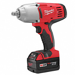 Cordless Impact Wrench Kit, 8-7/8 In. L