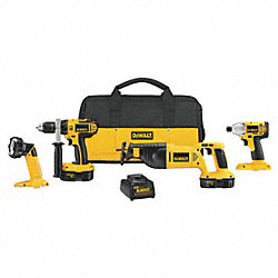 Cordless Combination Kit, 18.0V, 1.7A/hr.