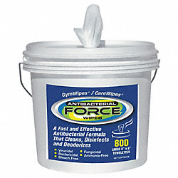 Antibacterial Force Wipes, Lemon, White