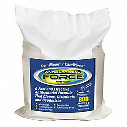 Antibacterial Force Wipes Refill, White